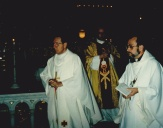 Mgr Tremblay et dom Sauvageau