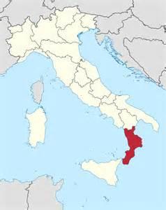 La Calabre, sud de l'Italie