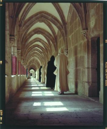 Grand cloître qui relie les cellules des moines