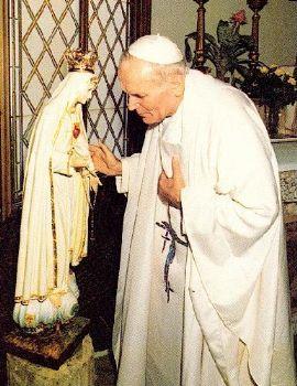 Giovanni paul II et la Madonna di fatima